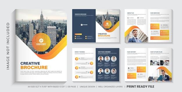 Modelo de folheto de perfil da empresa ou design de layout de modelo de folheto de várias páginas