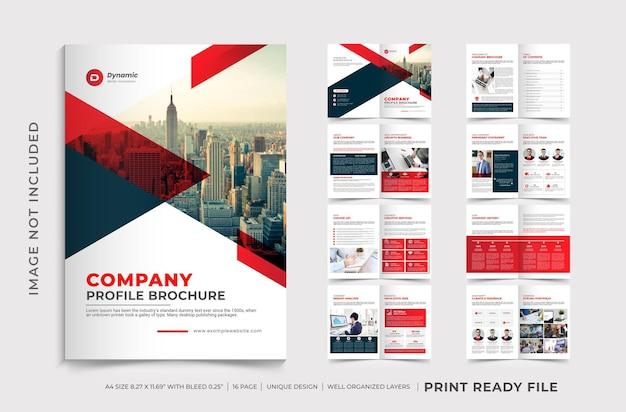 Modelo de folheto de perfil da empresa