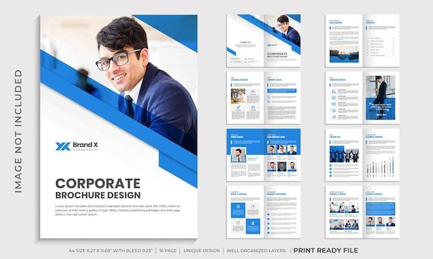 Modelo de folheto de perfil de empresa corporativa