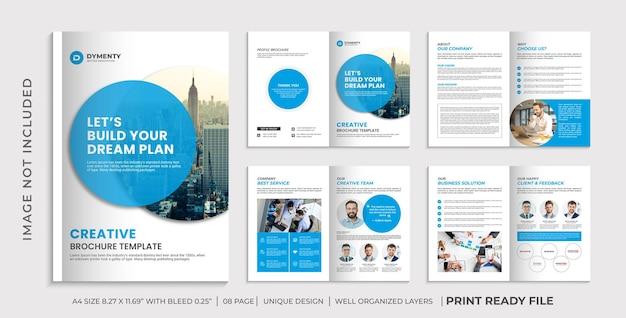 Modelo de folheto de perfil de empresa, design de folheto de várias páginas