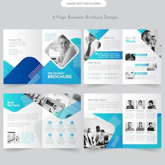 Modelo de folheto de perfil de empresa