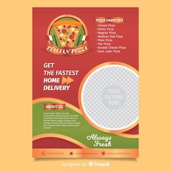 Modelo de folheto de pizza combinada