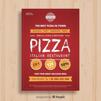 Modelo de folheto de pizza simples