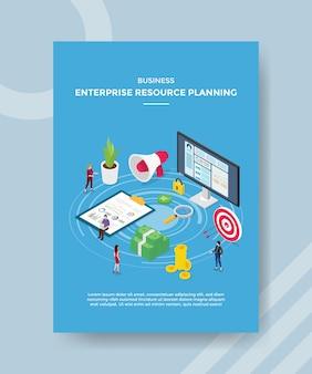 Modelo de folheto de planejamento de recursos empresariais empresariais