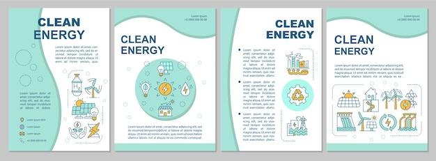 Modelo de folheto de produção de energia limpa