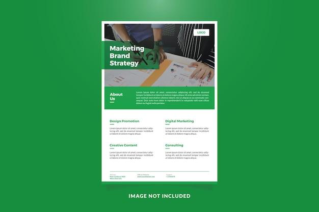 Modelo de folheto de promoção de empresa criativa minimalista