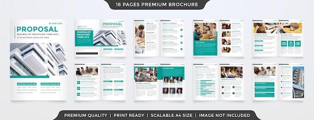 Modelo de folheto de proposta de negócios com duas dobras