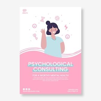Modelo de folheto de psicologia ilustrado Vetor grátis