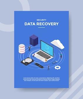 Modelo de folheto de recuperação de dados de segurança
