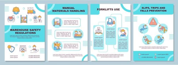 Modelo de folheto de regulamentação de armazém