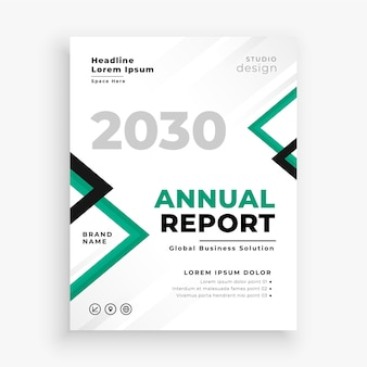 Modelo de folheto de relatório anual empresarial moderno
