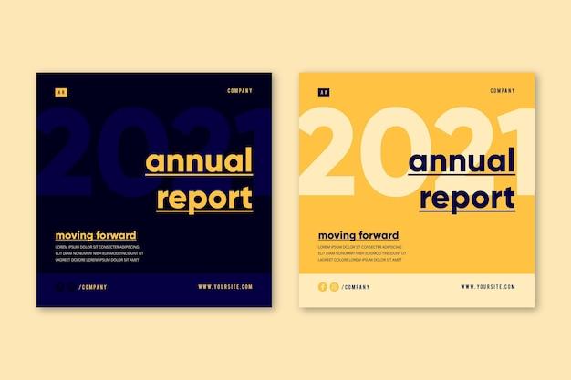 Modelo de folheto de relatório anual