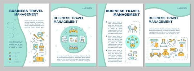 Modelo de folheto de reserva de viagens online. gestão de viagens de negócios