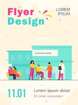 Modelo de folheto de residentes em lares de idosos