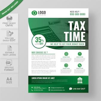 Modelo de folheto de restituição de imposto