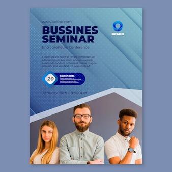 Modelo de folheto de seminário de negócios em geral