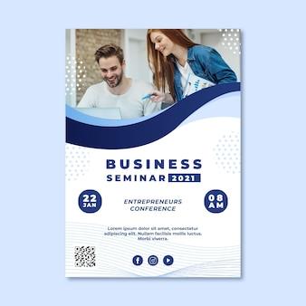 Modelo de folheto de seminário de negócios