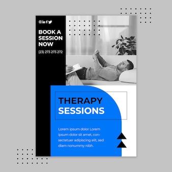 Modelo de folheto de sessões de terapia