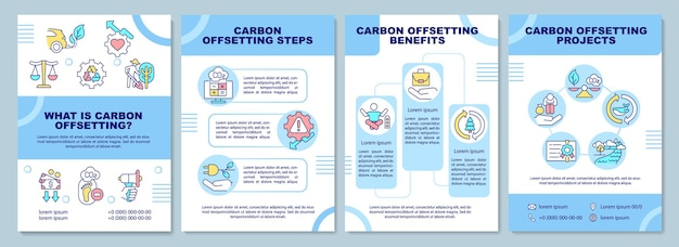 Modelo de folheto de significado de compensação de carbono