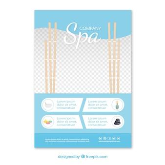 Modelo de folheto de spa com design elegante