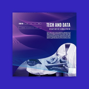Modelo de folheto de tecnologia e futuro