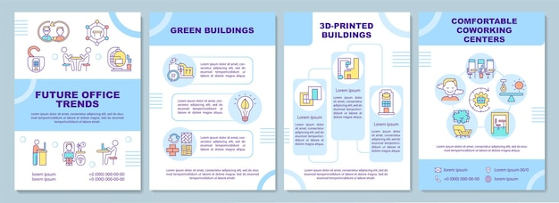 Modelo de folheto de tendências futuras de escritório Vetor Premium
