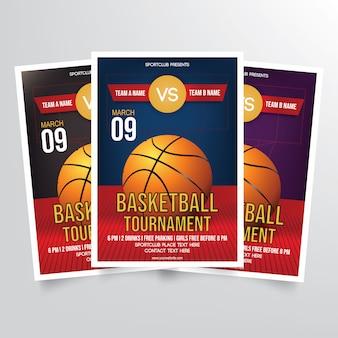 Modelo de folheto de torneio de basquete