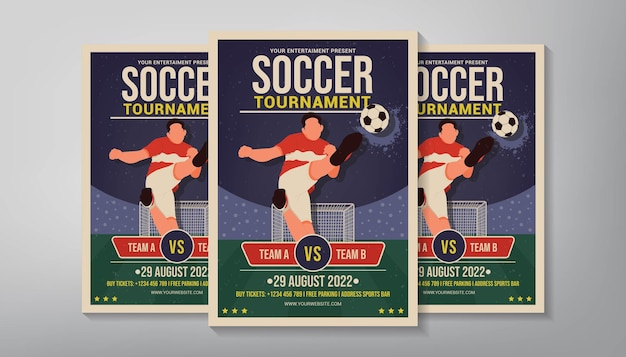 Modelo de folheto de torneio de futebol