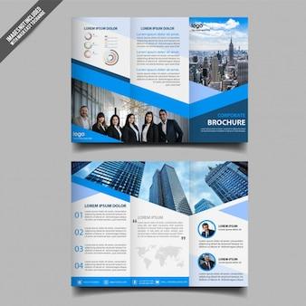 Modelo de folheto de três dobras de negócios abstrata