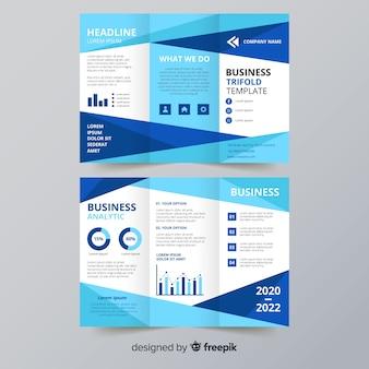 Modelo de folheto de três dobras de negócios