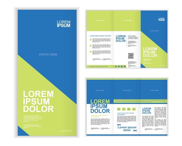 Modelo de folheto de três dobras de profissionais de negócios