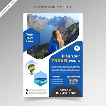 Modelo de folheto de turismo e férias