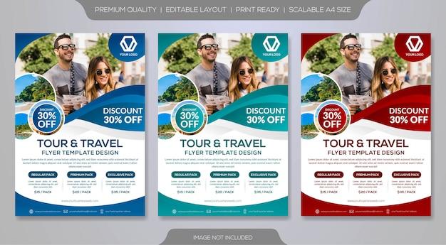 Modelo de folheto de turismo e viagens