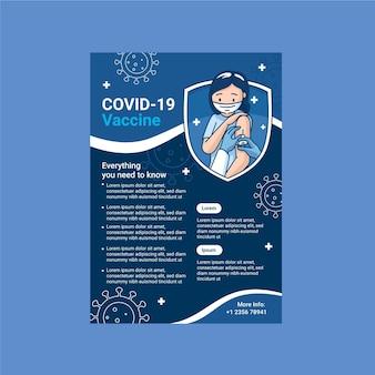 Modelo de folheto de vacinação de coronavírus orgânico plano