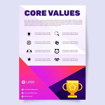Modelo de folheto de valores básicos de gradiente