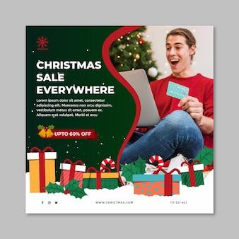 Modelo de folheto de venda de natal