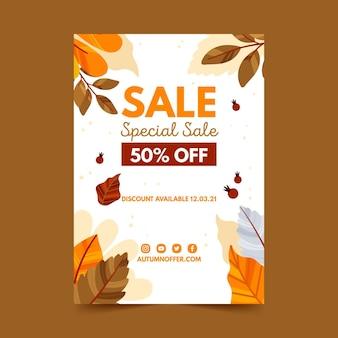 Modelo de folheto de venda de outono