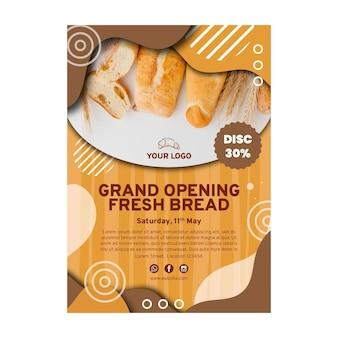 Modelo de folheto de venda de pão