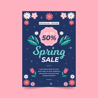 Modelo de folheto de venda de primavera