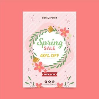 Modelo de folheto de venda de primavera Vetor grátis