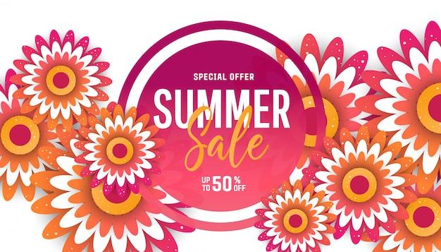 Modelo de folheto de venda de verão