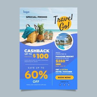 Modelo de folheto de venda de viagens