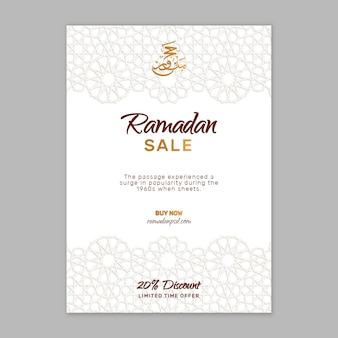 Modelo de folheto de venda ramadan