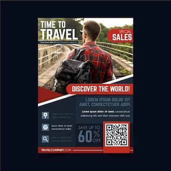 Modelo de folheto de vendas em viagem