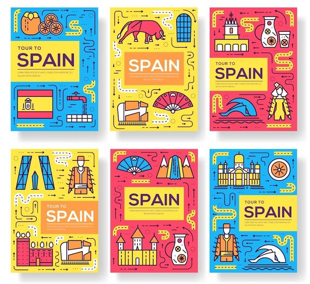 Modelo de folheto de viagem ao país