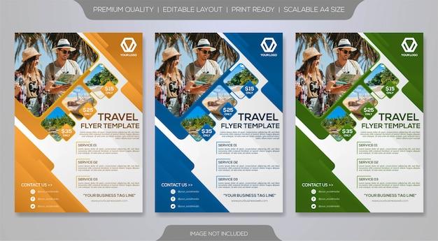 Modelo de folheto de viagem