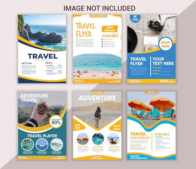 Modelo de folheto de viagens coleção