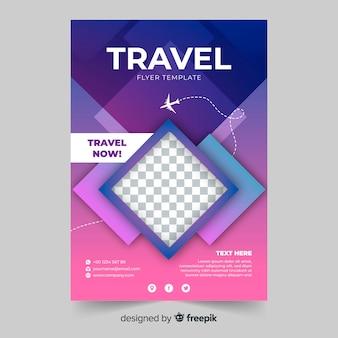 Modelo de folheto de viagens de gradiente