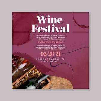 Modelo de folheto de vinho