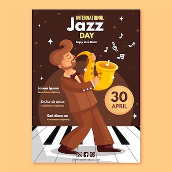 Modelo de folheto - dia internacional do jazz